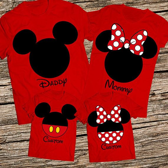 "Disney inspired Personalised Hoiliday Xmas,/""Family/""  Florida Blue T Shirts"