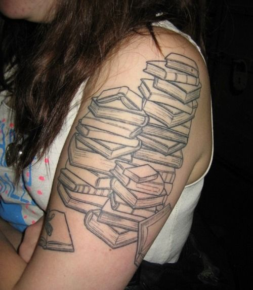 78 best images about books in tattoo design on pinterest awesome tattoos livres and hp tattoo. Black Bedroom Furniture Sets. Home Design Ideas