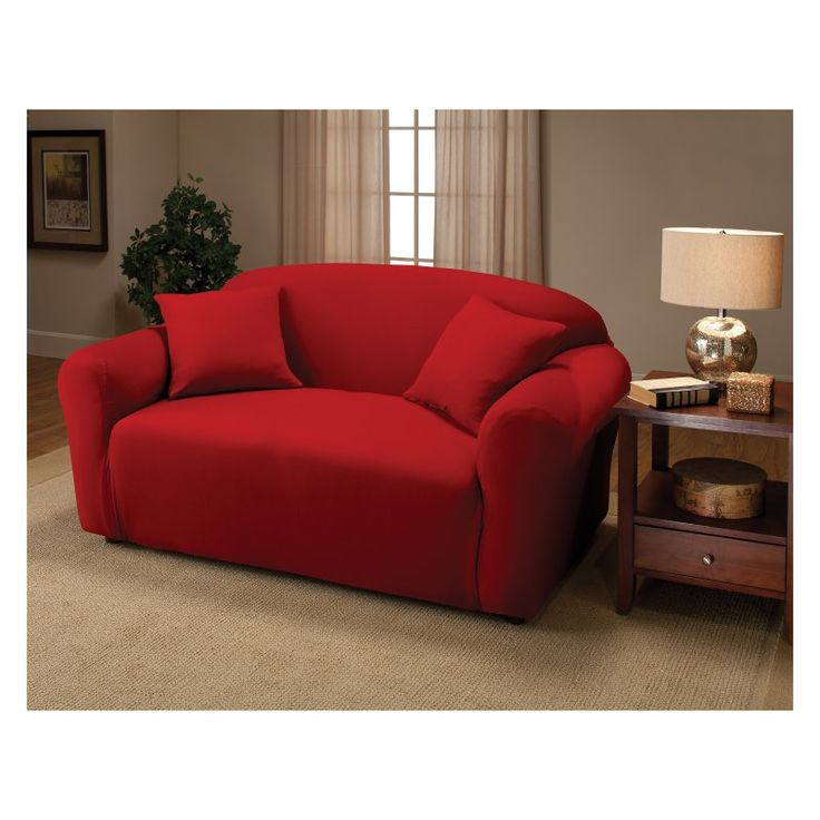 madison industries solid jersey loveseat cover jerlsaqh