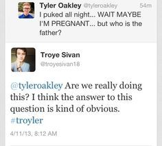 I love how much they take it seriously even though troye said troyler's not real