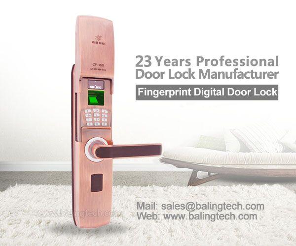 intelligent fingerprint keypad door lock residential electronic door locks solution provider