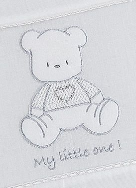 Baby Oliver Teddy White baby bedding embroidered collection with original Swarovski Crystals