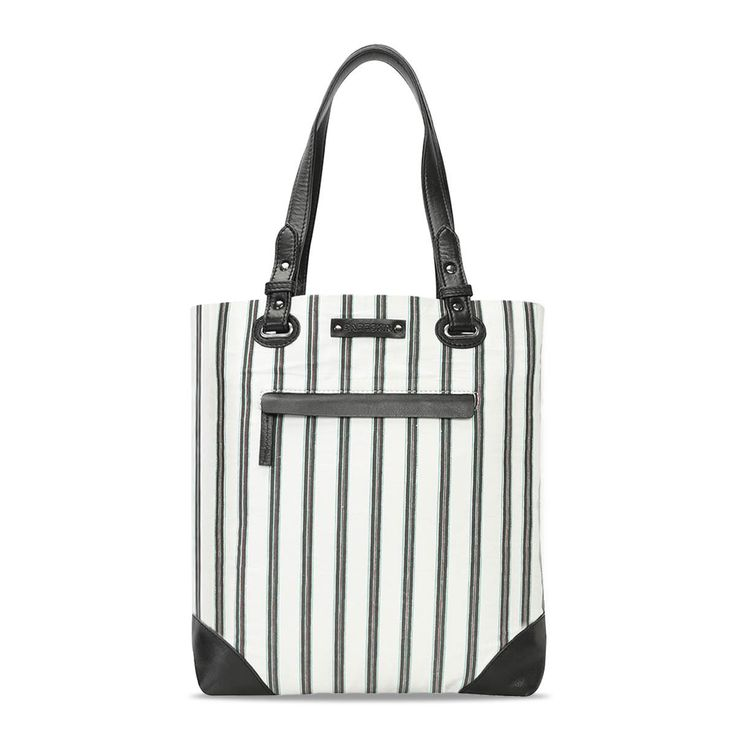 Buy Bareskin Striped #BlackandWhite Ladies Shopper Bag Online at Best Price. #voganow