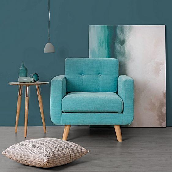 Larsen Turquoise Armchair by Zanui