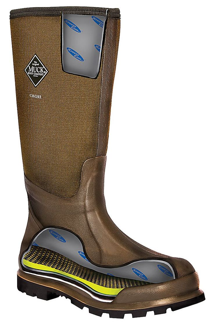 The Original Muck Boot Company Woody Sport Cool Rubber Work Boots for Men | Bass…