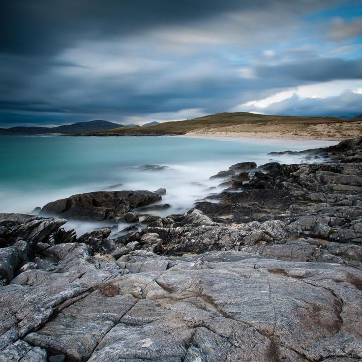 Nisabost Beach is situated on the Isle of Harris in the Outer Hebrides off the Scottish Highlands.