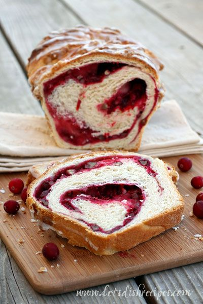 Cranberry Swirl Bread- a great holidya gift idea and it also make yummy twist on french toast!