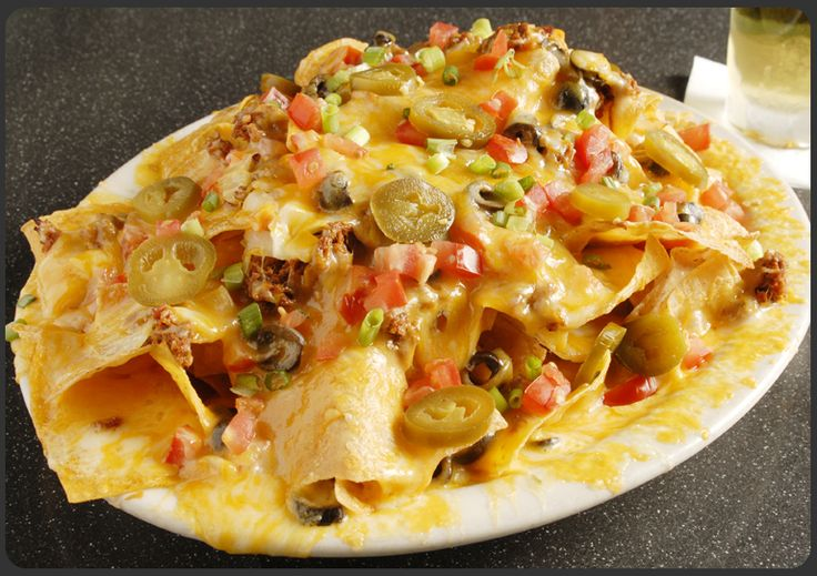 Overloaded Nachos - I could eat this every day for the rest of my life (add sour cream and guacamole)