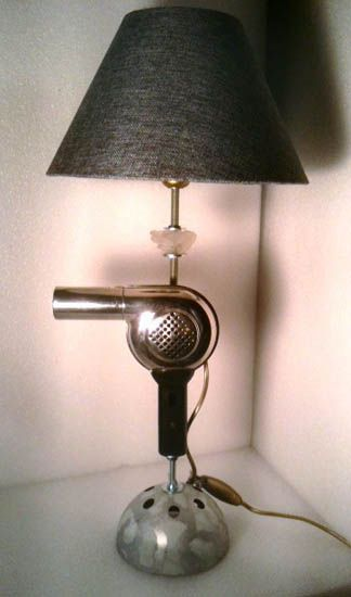 table lamp made of fan