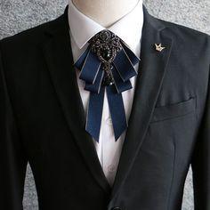 Black Rhinestone Crystal Dangle Wedding Men Pre Tied Bow Tie Neck Tie #Unbranded #PinTie