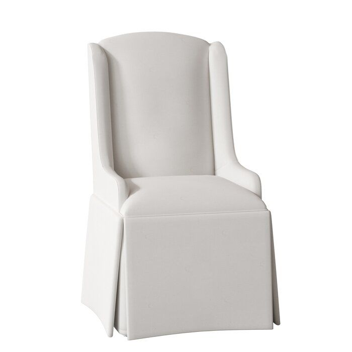 Doric Upholstered Wingback Arm Chair In 2020 Upholstered Dining Chairs Upholster Dining Chair Slipcovers