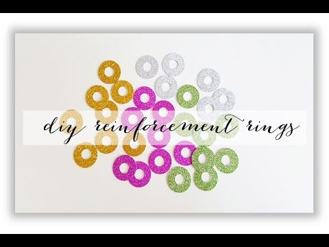 DIY reinforcement rings - YouTube