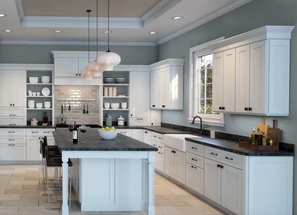 20 Kitchen Wall Paint Color Ideas, Best Wall Paint Color For Gray Kitchen Cabinets