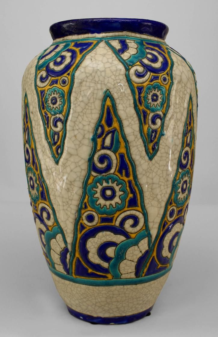 Art Deco French accessories urn/vase earthenware