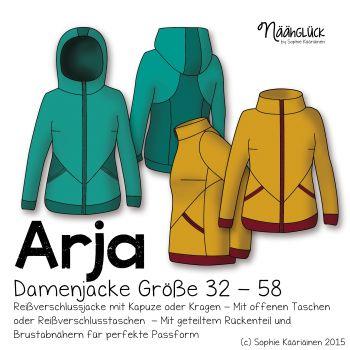 Näähglück Onlineshop - eBook Arja - Damenjacke Größe 32 - 58