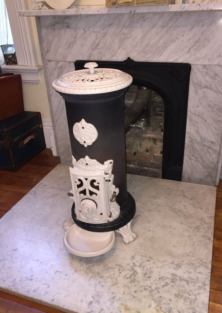 "GODIN vintage wood and coal burning stove ~ 30"" tall 