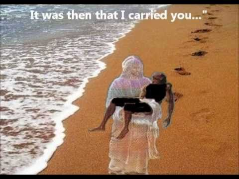 """""""Footprints In The Sand"""" - William Blanco May - Inspirational Video [Lyr..."""
