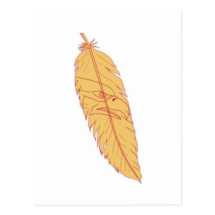 Sea Eagle Head Inside Feather Drawing Postcard - postcard post card postcards unique diy cyo customize personalize