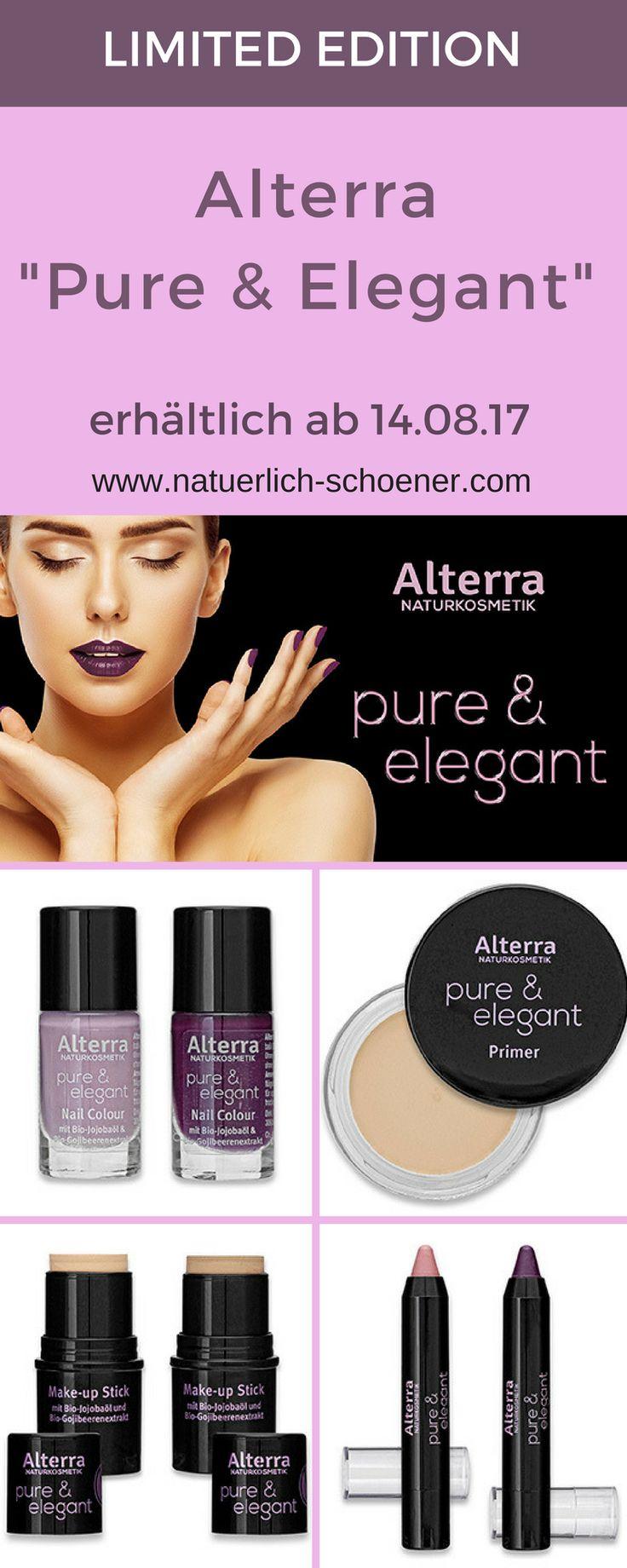Ab 14.08.17 gibt es bei Rossmann eine neue Limited Edition: Alterra Pure & Elegant mit Nagellack, Lippenstift, Primer usw. #Naturkosmetik #Alterra