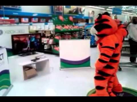 Tony the Tiger having a blast at Wal-Mart!!!
