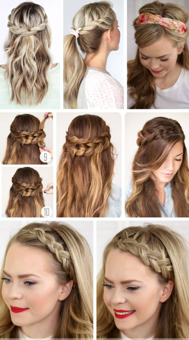 Easy party hairstyles for long hair 2017