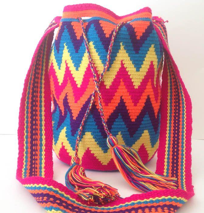 Tribal Mochila Wayuu Bag #bohobag #homeandtribe #tribalbag