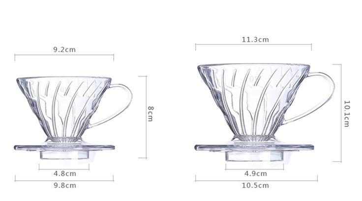 1 шт. горячий кофе капельница Hario стиль V60 кофеварки кофе капельница ( одна капельница + один фильтр + одна ложка ) купить на AliExpress