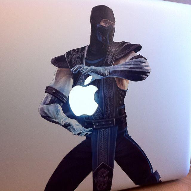 Sub-Zero MacBook Sticker. FINISH HIM. #mortalkombat #videogame
