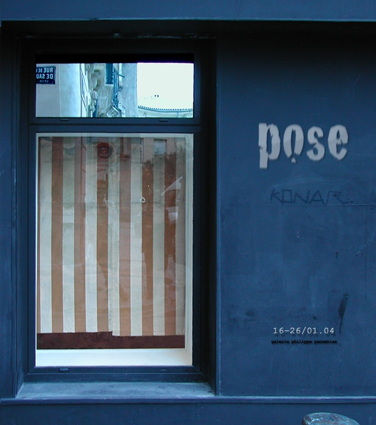 Exposition Pose point to point galerie Invitation