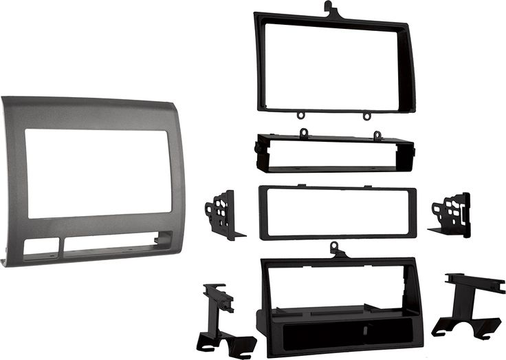 Metra - Pocket Installation Kit for Select Toyota Tacoma Trucks - Black, 99-8214TG