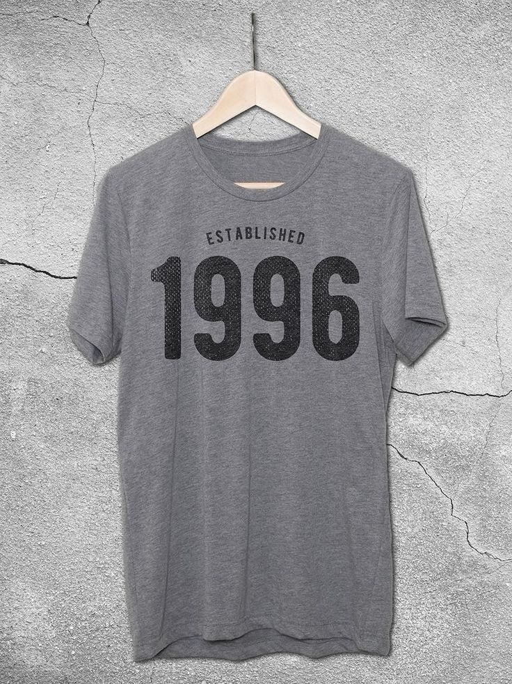 21st birthday gift ideas for men and women. Established 1996 T-Vintage T-Shirt. The perfect birthday gift for turning 21!
