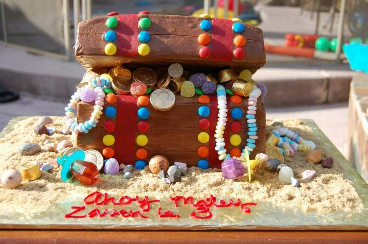 Candy Treasure Chest Birthday Cake