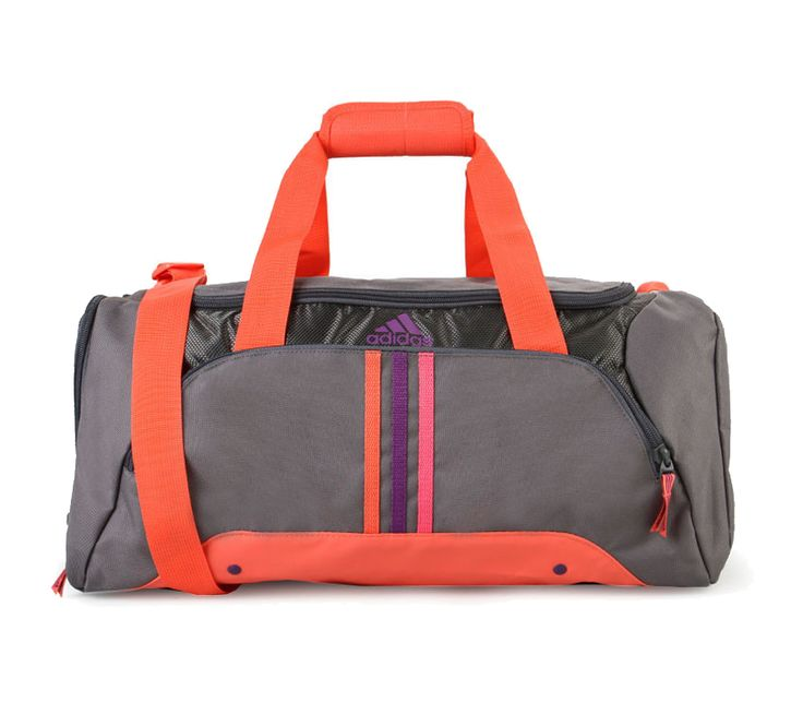 3S Ess Bag Gym bag, made from polyester, grey color, main compartment, with orange, purple and mostly gray color, this gym bag look stylish, ziipper fastening, with front pockets, handle drop length 23 cm, adjustable strap 143 cm.  http://www.zocko.com/z/JGjEa