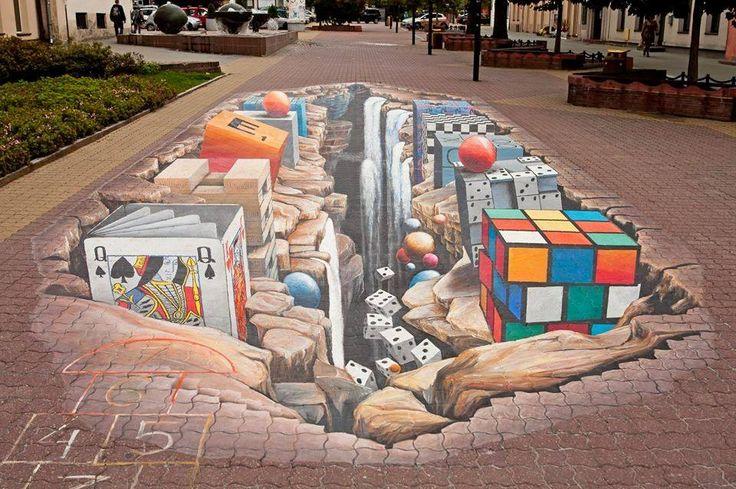 Łódź, Poland author: RYSZARD PAPROCKI  Location: Piotrkowska St., Schiller's Passage  3D painting, Piotrkowska Street Event Project #lodz