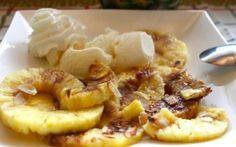 Lekker zoet nagerecht met fruit volgens Mexicaans recept. Eenvoudig te maken fruit toetje, voordelig en aantrekkelijk uiterlijk. Het bestaat uit bananen met een warme ananas-saus. Het leuke van dit recept is dat de bananen en ananas te vervangen zijn door...