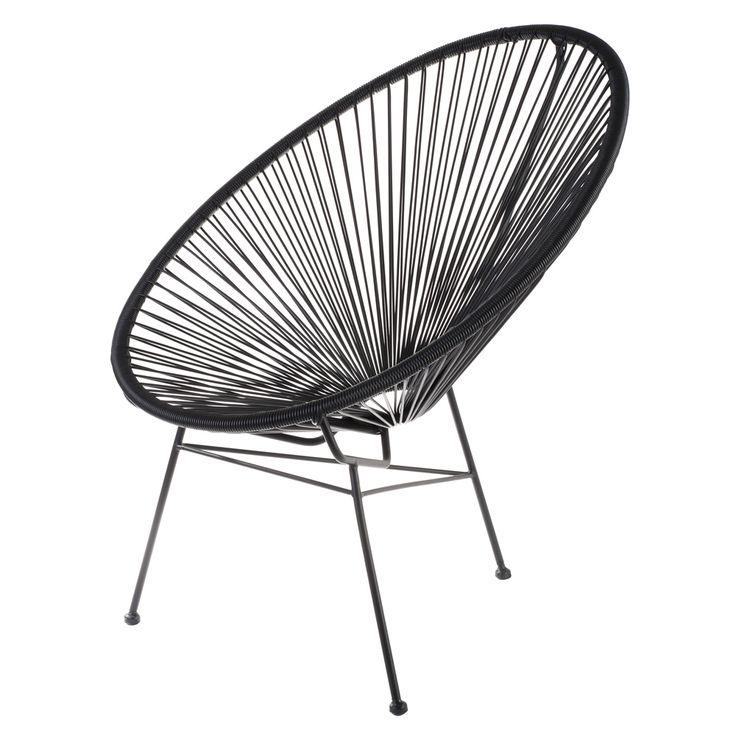 Willkommen im Sommer! Der Retro Sessel Acapulco Bahia erinnert an die gemütlichen Ferientage unserer Kindheit. Farbenfroher Stuhl der sowohl drinnen wie draußen den Sommer aufkommen lässt! Die gekonnt gespannten Polyethylenseile...