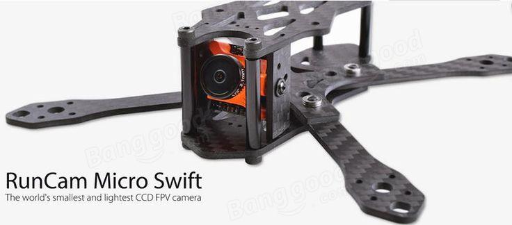 RunCam Mikro Segler 600TVL 2.1mm IR Blockierte 1/3 CCD FPV Kamera PAL / NTSC 5.6g