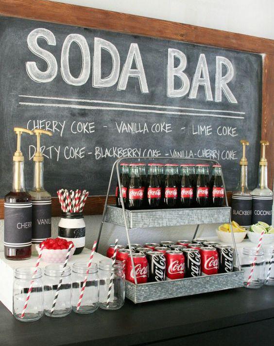5 alternatives au bar à bonbons ou candy bar, pour ton mariage : bar à vin et fromage, bar à bulles, bar à Mojito, Coffee-bar, bar à smoothie