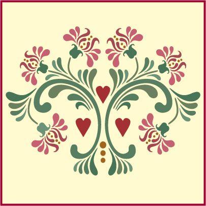 Rosemaling, rosemaling stencil pattern 11 the artful stencil
