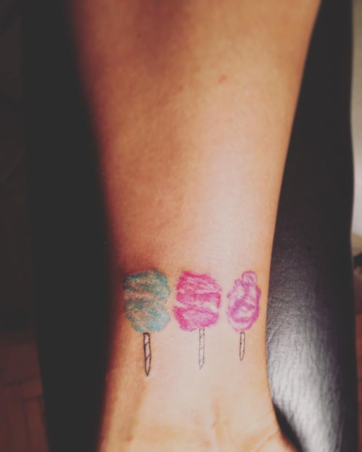 watercolor cotton candy tattoo