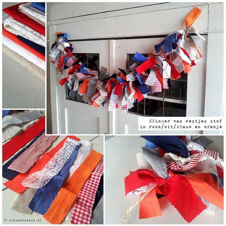 Oranje decoraties voor de kroning! | Brocantepost