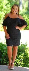 Love Letters Lace Dress - Black