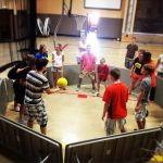Indoor GaGa Ball - (Caitlin, check this out. It's a big deal over here in my neck of the woods. It's all the kids play!)
