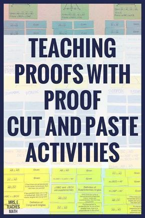 Teaching Proofs with Proof Cut-Out Activities