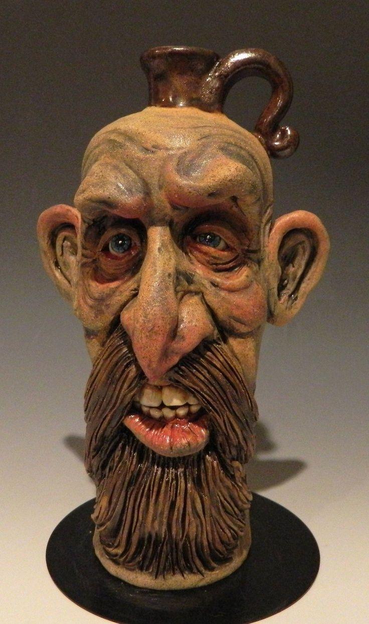 Bearded Man Jug by thebigduluth.deviantart.com: