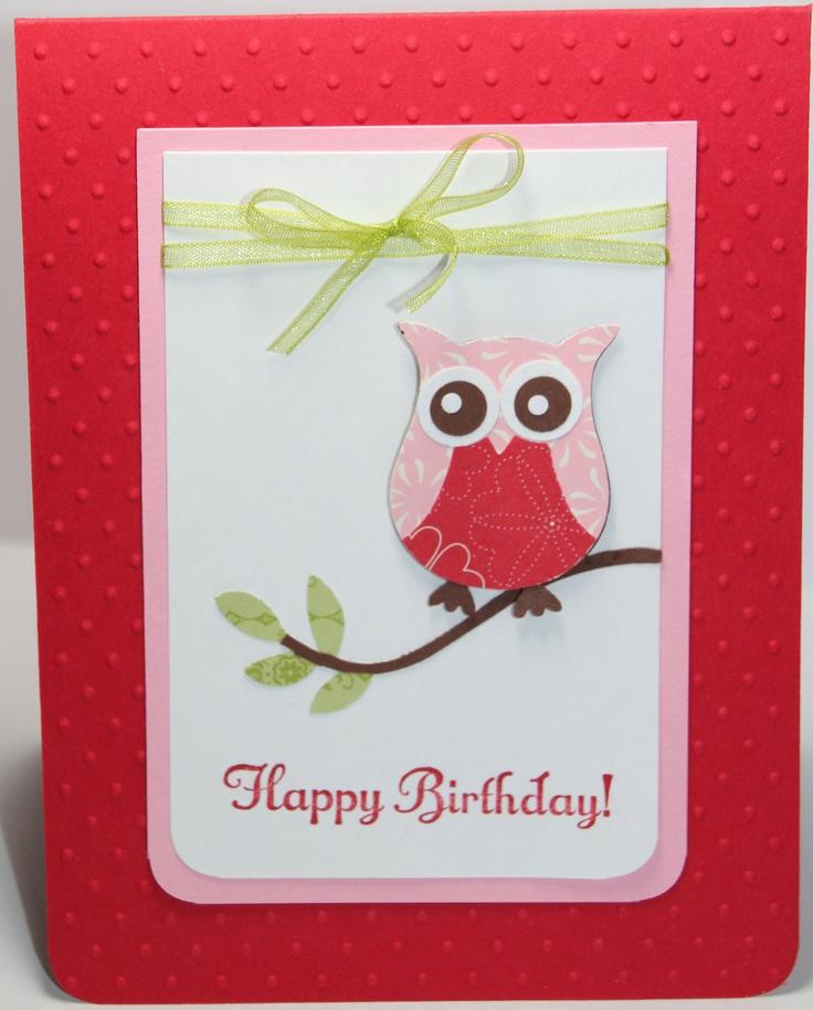 Owl Birthday Card Stampin Up Handmade. $3.00, via Etsy.