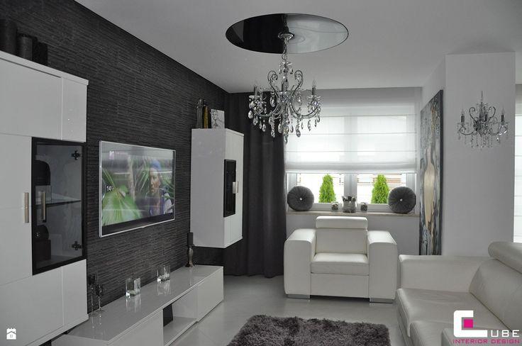 Salon styl Glamour - zdjęcie od CUBE Interior Design - Salon - Styl Glamour - CUBE Interior Design