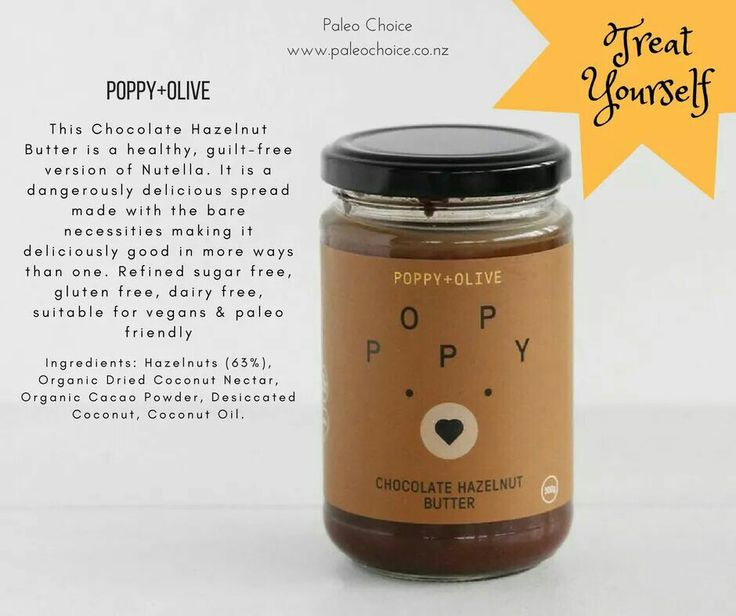 A #healthy alternative to #Nutella, your #children will love this Chocolate and Hazelnut Butter from Poppy & Olive . Spread it on toast & top with sliced banana or strawberries, or add it to your post workout #smoothies. #paleochoice #vegan #paleo #chocolatehazelnut