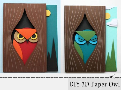 Owls.  Love these.  I love how they incorporate my favorite organic shape too!