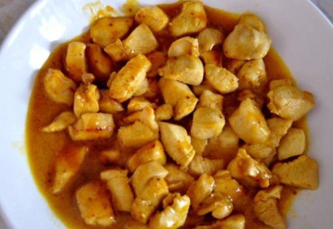Mézes-mustáros-curry-s csirke